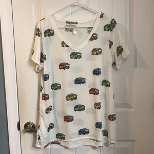 NWOT XL LulaRoe Christy Tee - VW Bus design